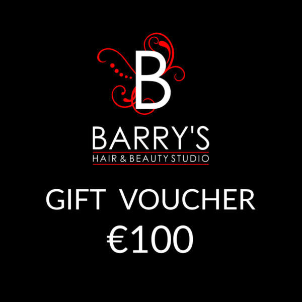 Gift Voucher €100 at Barrys Hair Studio, Galway.