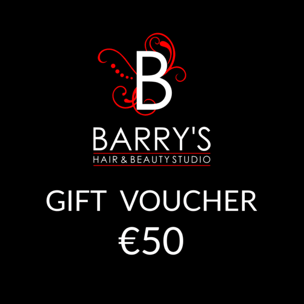 Gift Voucher €50 at Barrys Hair Studio, Galway. Give a gift voucher for your loved ones!