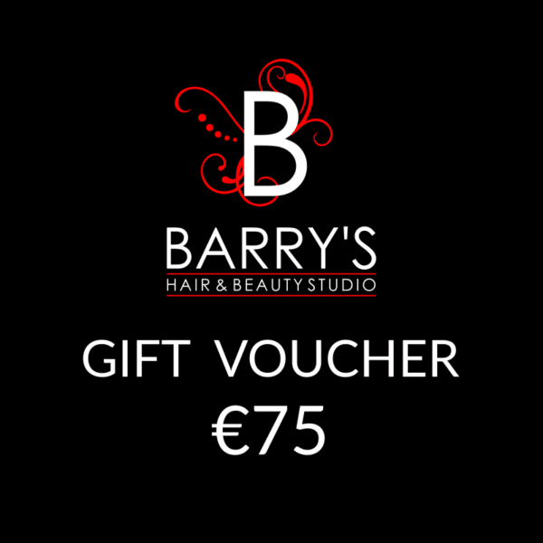 Gift Voucher €75 at Barrys Hair Studio, Galway.